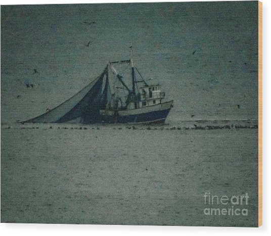 Blue Trawler 3 Wood Print
