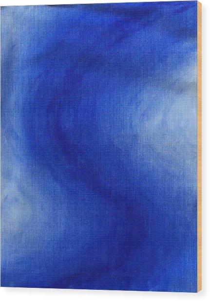 Blue Vibration Wood Print