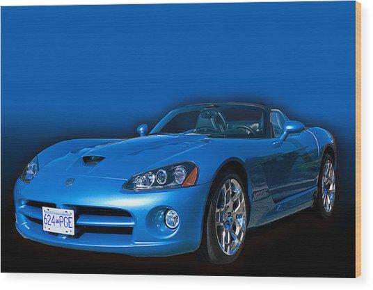 Blue Viper Wood Print