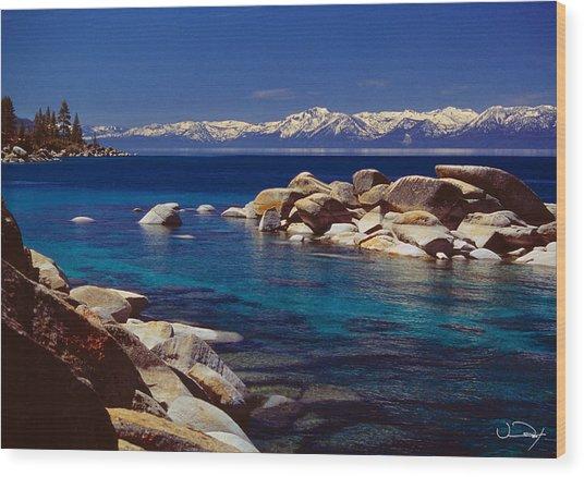 Blue Water Lake Tahoe Wood Print