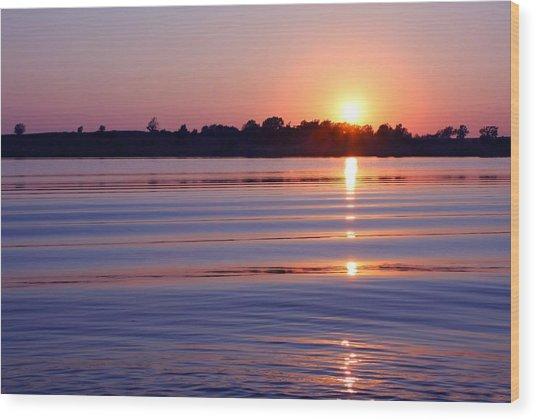 Blue Water Sunset Wood Print by Jim  Darnall