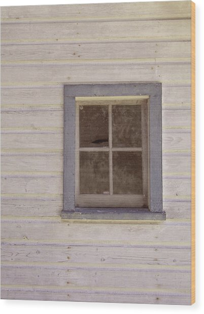 Blue Window Wood Print by JAMART Photography