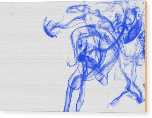 Blue1 Wood Print