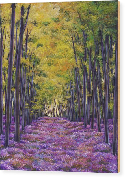 Bluebell Expanse Wood Print