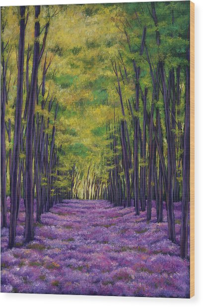 Bluebell Vista Wood Print