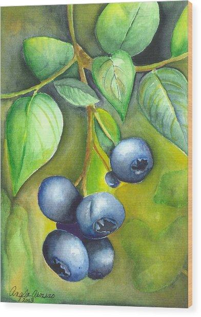 Blueberrries Wood Print