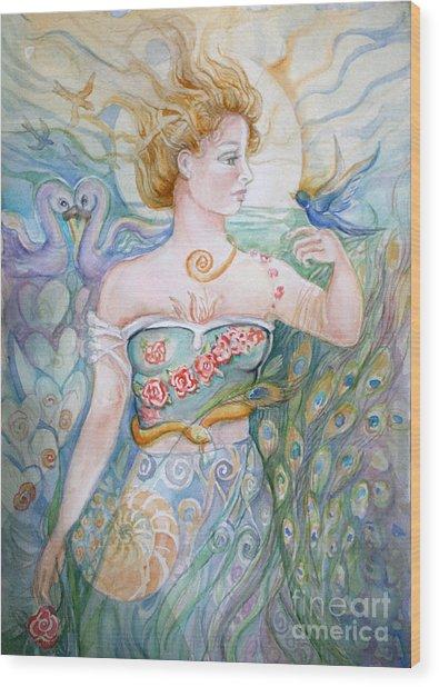 Bluebird Wood Print by Catherine Moore
