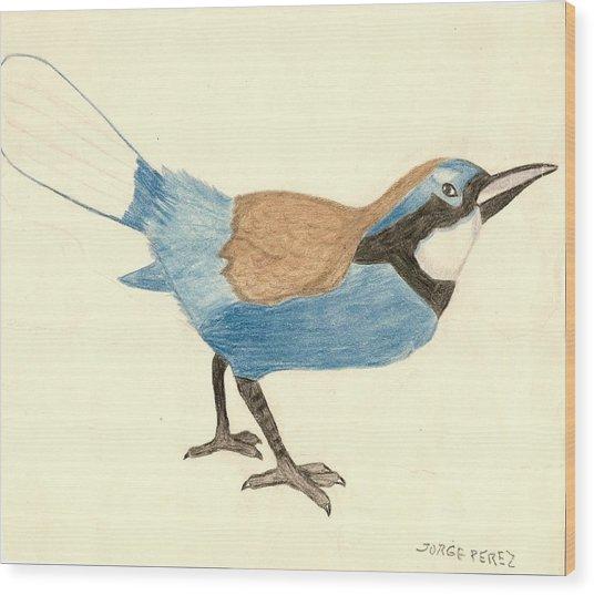 Bluebird Wood Print by George I Perez