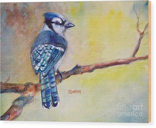 Bluebird Wood Print by Joyce A Guariglia