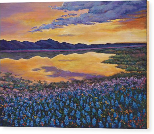 Bluebonnet Rhapsody Wood Print by Johnathan Harris