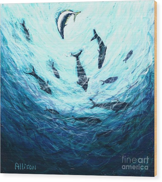 Bluefin Tuna Wood Print