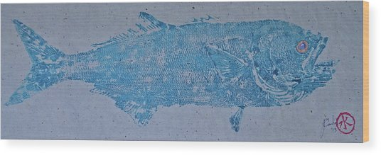 Bluefish - Chopper- Aligator Blue - Wood Print