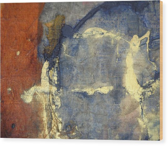 Bluegold 3 Wood Print