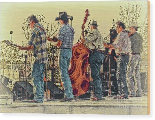 Bluegrass Evening Wood Print