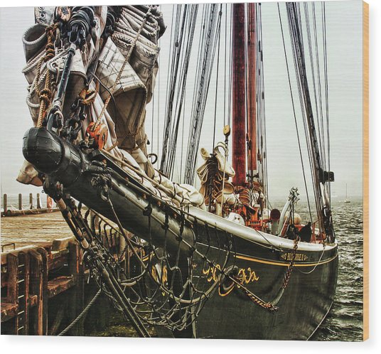 Bluenose Wood Print