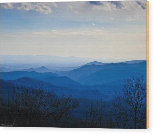 Blueridge Wood Print