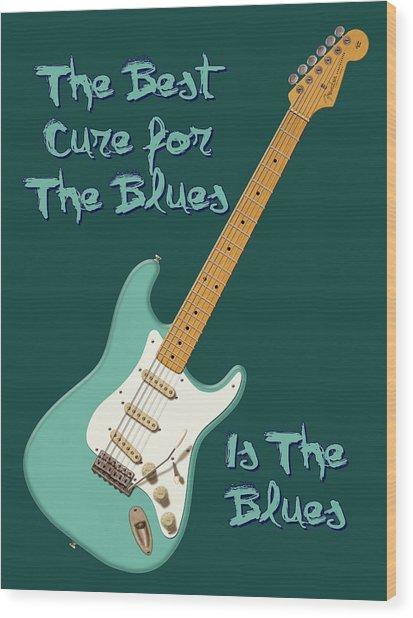 Blues Cure Seafoam Wood Print