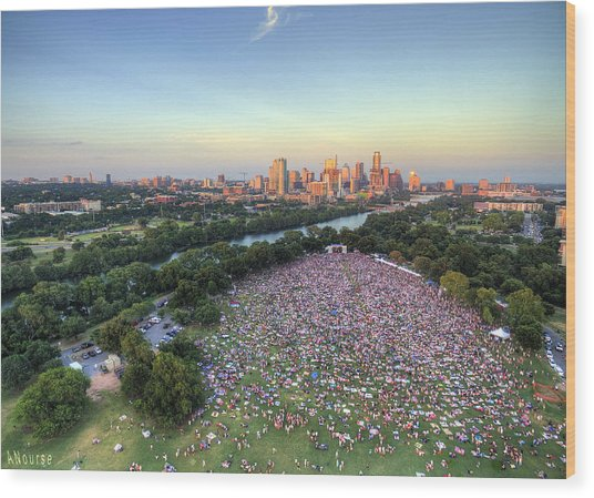 Blues On The Green With Bob Schneider Wood Print