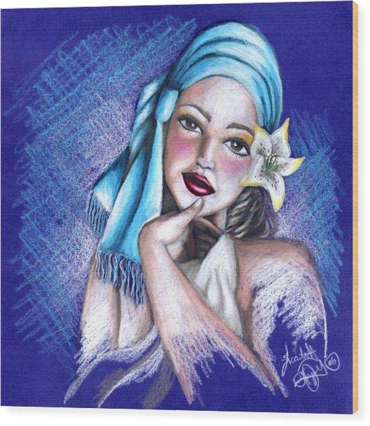 Blues Wood Print by Scarlett Royal