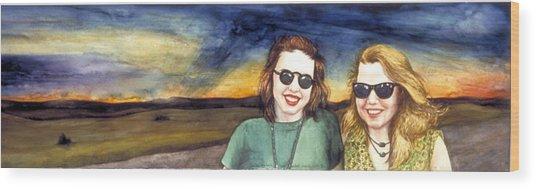 Blues Sisters Wood Print by Nancy  Ethiel