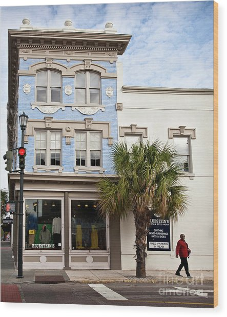 Bluesteins Menswear Charleston Sc  -7434 Wood Print