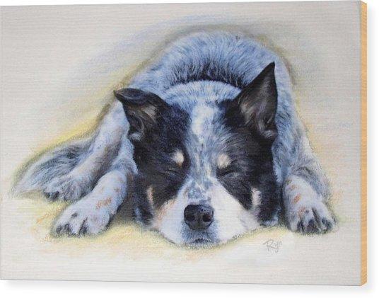 Bluey Wood Print