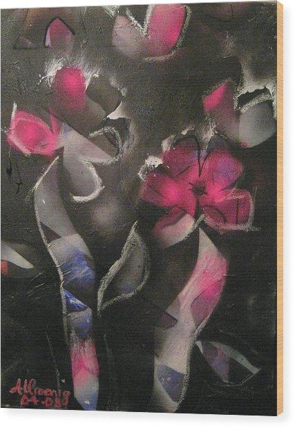 Blumen Aus Berlin Wood Print by Andrea Noel Kroenig