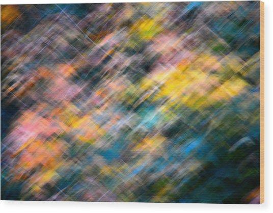 Blurred Leaf Abstract 1 Wood Print