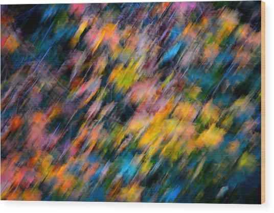 Blurred Leaf Abstract 4 Wood Print