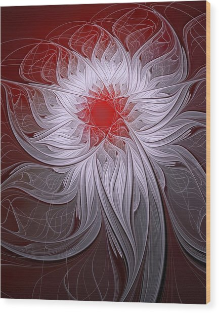 Blush Wood Print
