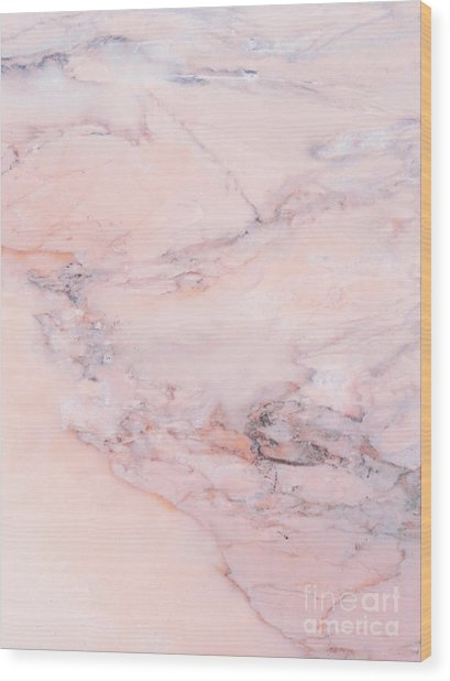 Blush Marble Wood Print