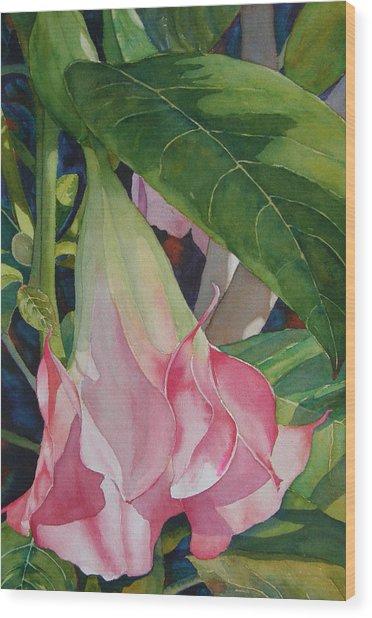 Blushing Angel Wood Print