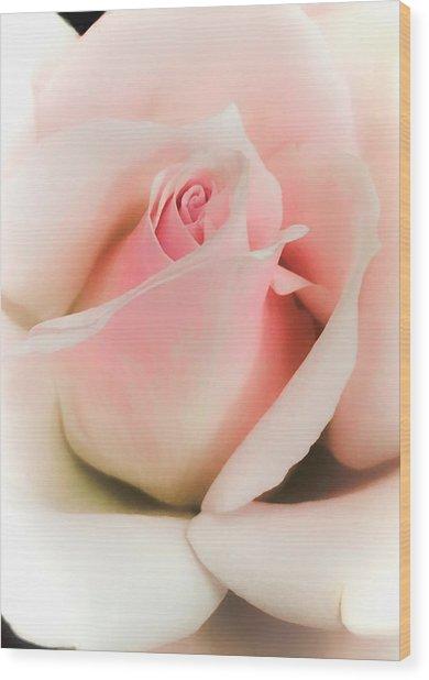 Blushing Petals Wood Print