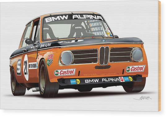 Bmw 2002 Alpina Illustration Wood Print