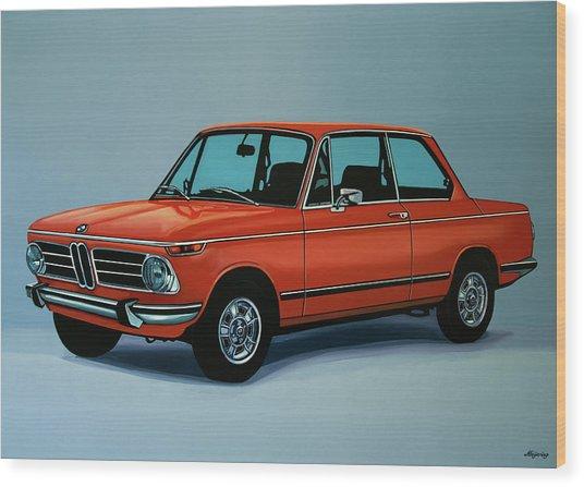 Bmw 2002 1968 Painting Wood Print
