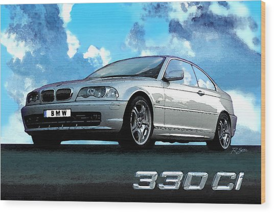 Bmw 330ci Wood Print