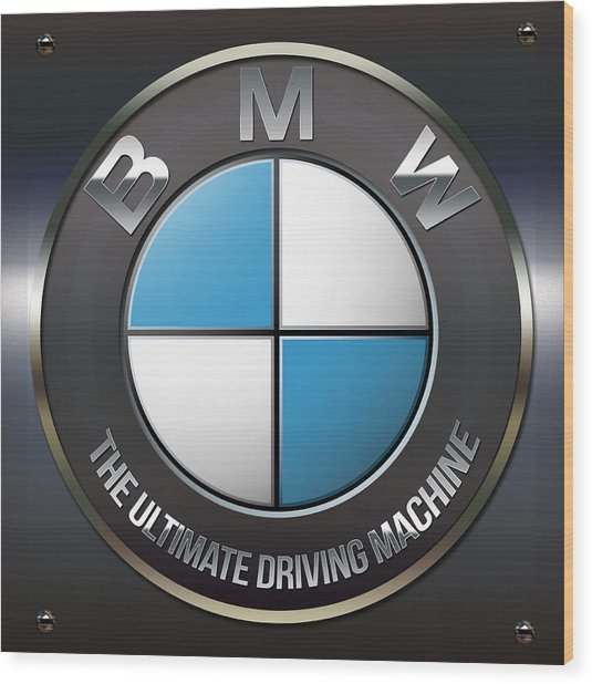 Bmw Logo Wood Print