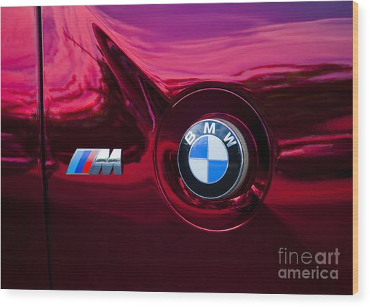 Bmw M3 Badges Wood Print