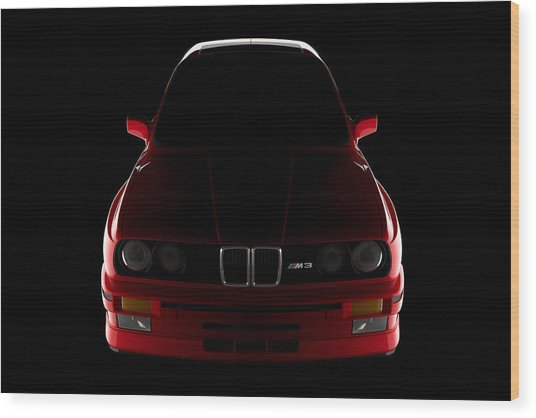 Bmw M3 E30 - Front View Wood Print