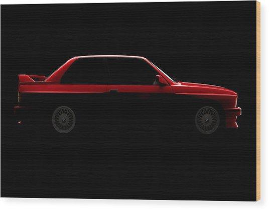 Bmw M3 E30 - Side View Wood Print