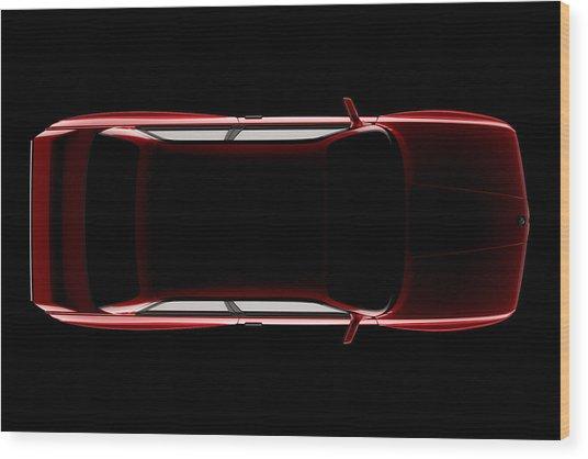Bmw M3 E30 - Top View Wood Print