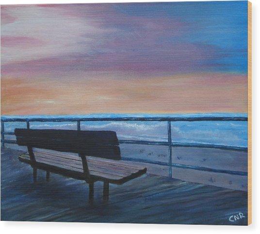 Boardwalk At Sunrise Wood Print