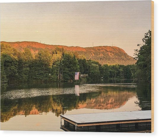 Boardwalk Sunset Wood Print