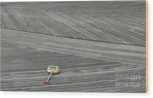 Boardwalk Toy Wood Print by Maria Scarfone