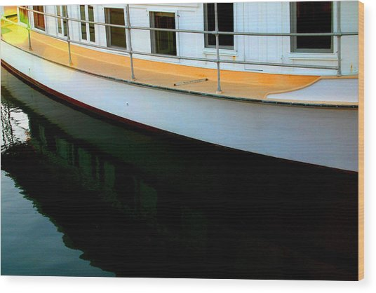 Boat  Reflection - Image 5 - Ver. 2 Wood Print