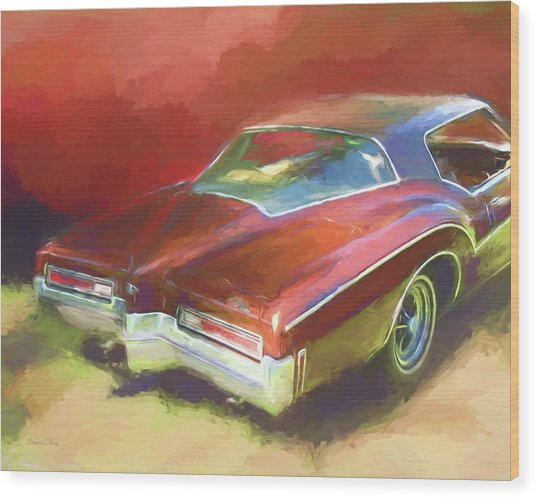 Boat Tail Buick Wood Print