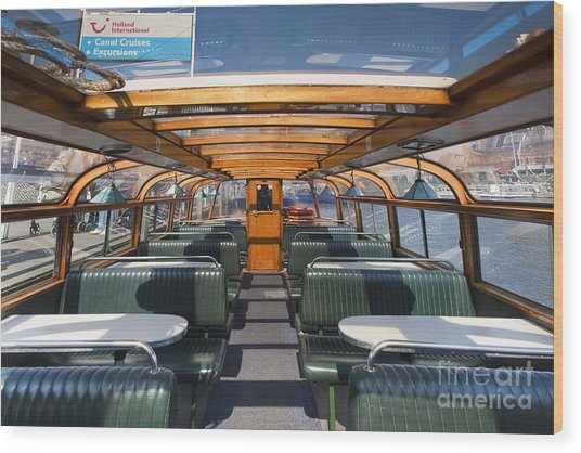 Boat Trip In The Channles Of Amsterdam Wood Print by Andre Goncalves