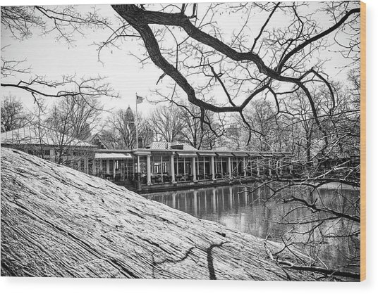Boathouse Central Park Wood Print