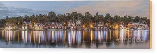 Boathouse Row Lftc Wood Print