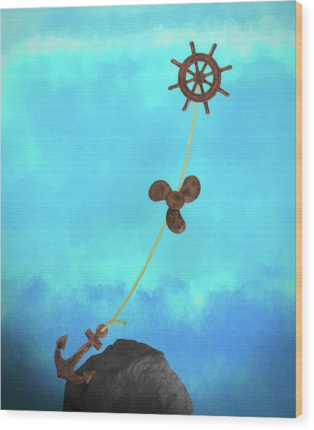 Boating Concept Wood Print